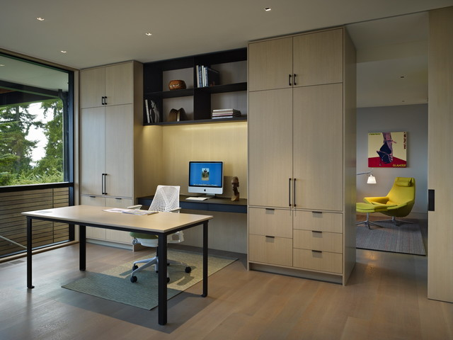 Contemporary Home Office Design Ideas: Hillside Modern