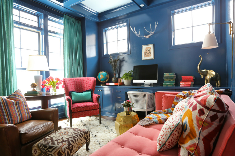 Eclectic home office photo in Chicago