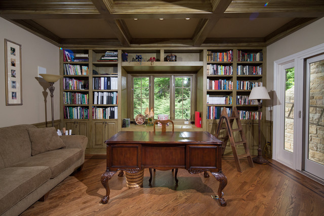 hinsdale luxury custom millwork home office study library traditional home office atherton library traditional home office