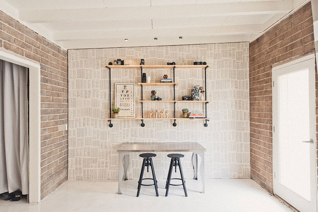 Hipster work studio industrial home office orange county by lindye galloway design - Work of interior home decorator ...