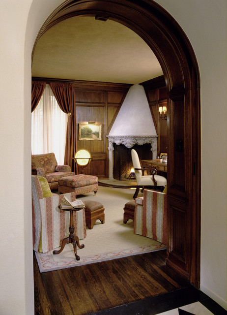 Historic Wallace Neff traditional-home-office