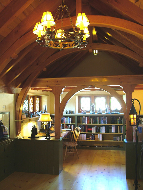Hobbit House traditional home office