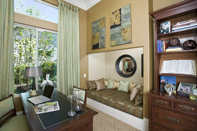 An Inspired Office/Study in Hollywood Regency Style - Robert Naik photography contemporary-home-office
