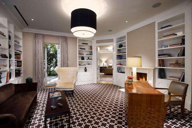 Hollywood Regency Montecito Midcentury Home Office