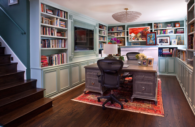 Hollywood Residence eclectic home office