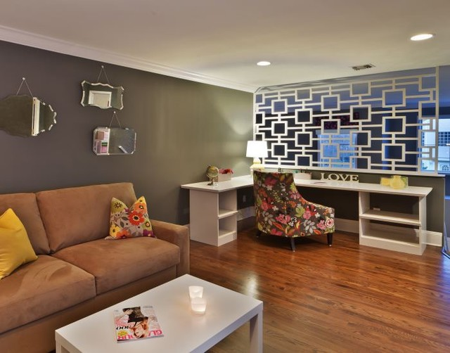 Home in East Setauket eclectic-home-office