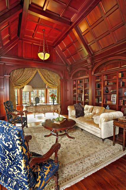 Home library and study traditional home office dallas by rsvp design services Traditional home library design ideas