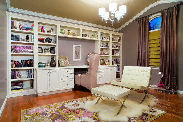 Awesome Home Library Contemporary Home Office St Louis By Angela Largest Home Design Picture Inspirations Pitcheantrous