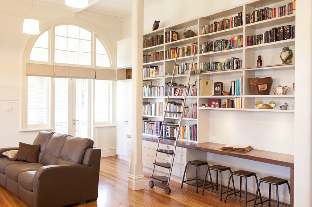 home library modern home office sydney by dan kitchens