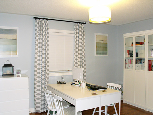 contemporary home office by toronto interior designers decorators am dolce vita blue office walls