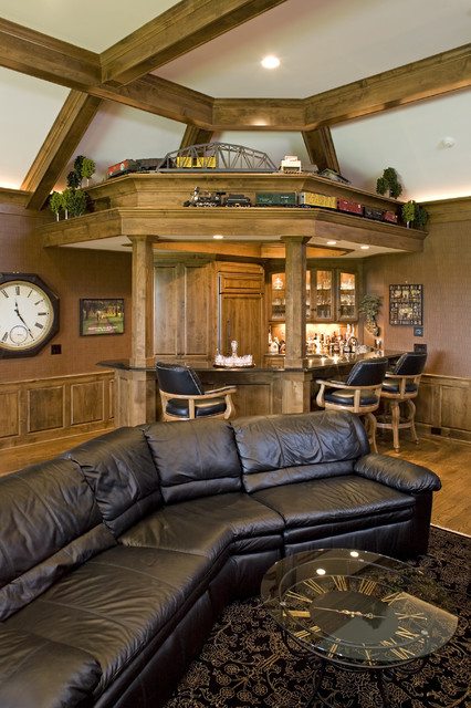 Home Office Bar Traditional Home Office Minneapolis