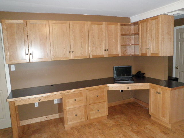 Home Office built-in in solid cherry - Eclectic - Home Office ...