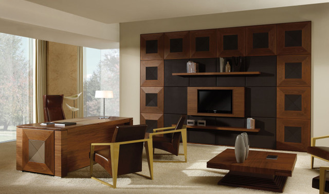 Home Office - Contemporary - Home Office - denver - by Charles Eisen & Associates