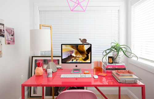 Image result for a clutter-free home office desk images
