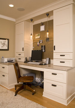 Charming Traditional Home Office By Kayron Brewer, CKD / Studio KB