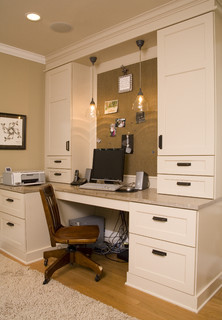 creating a home office includes ambient and task lighting