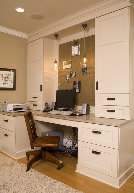 Home office computer room traditional home office for Office design houzz