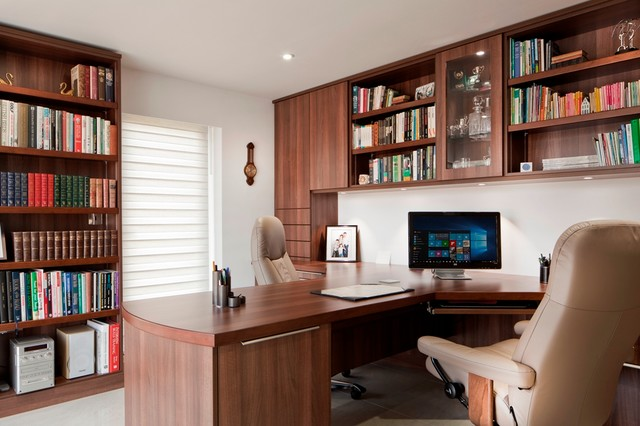 Home Office Traditional Home Office Library