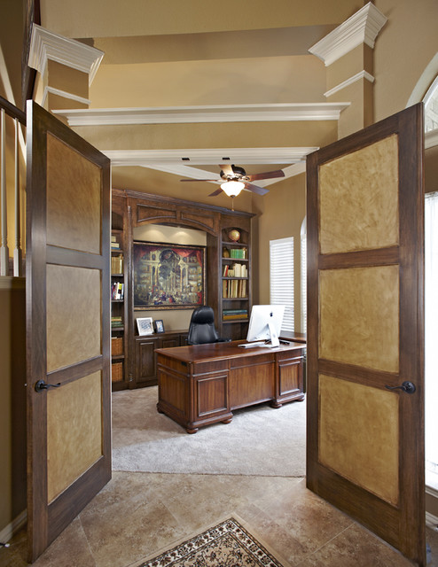 Home office construction Grapevine TX traditional-home-office