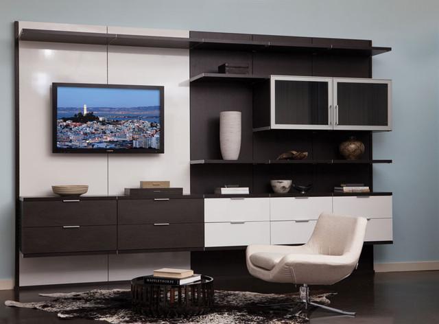 Home Office Design Inspiration   California Closets DFW Contemporary Home  Office