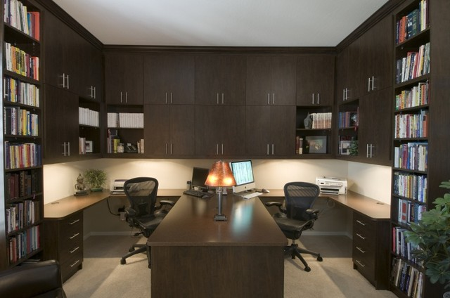 Home Office Design Inspiration   California Closets DFW Home Office  And Library