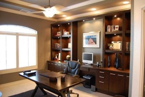 Home office design inspiration california closets dfw contemporary home office dallas Closet home office design ideas