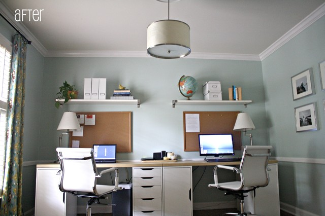 Home Office For Two contemporary home office