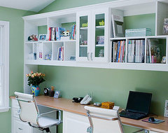 Home Office for Two, Roslyn contemporary-home-office