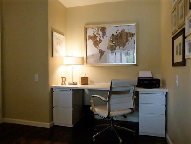 Home Office / Guest Room トランジショナル-書斎ホームオフィス