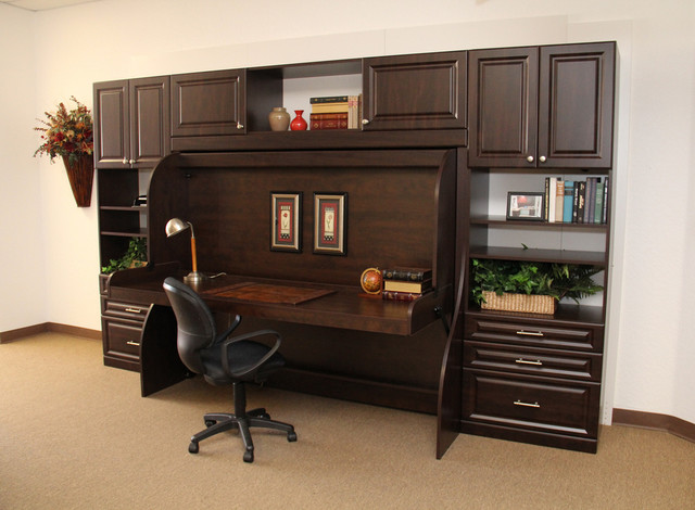 Home Office Hidden Desk Bed With A
