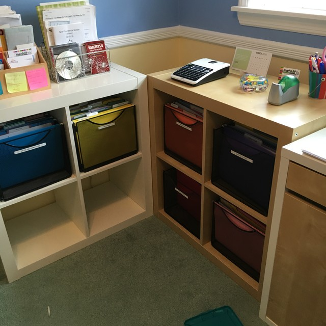 Home office IKEA expedit filing system - Transitional - Home Office - by IT'S ORGANIZED