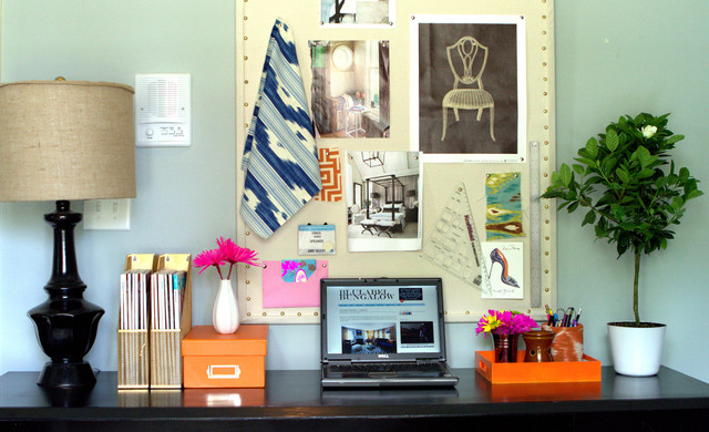 Home Office in the Spring eclectic-home-office