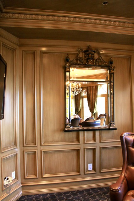Home Office Striae Wall Glaze traditional-home-office