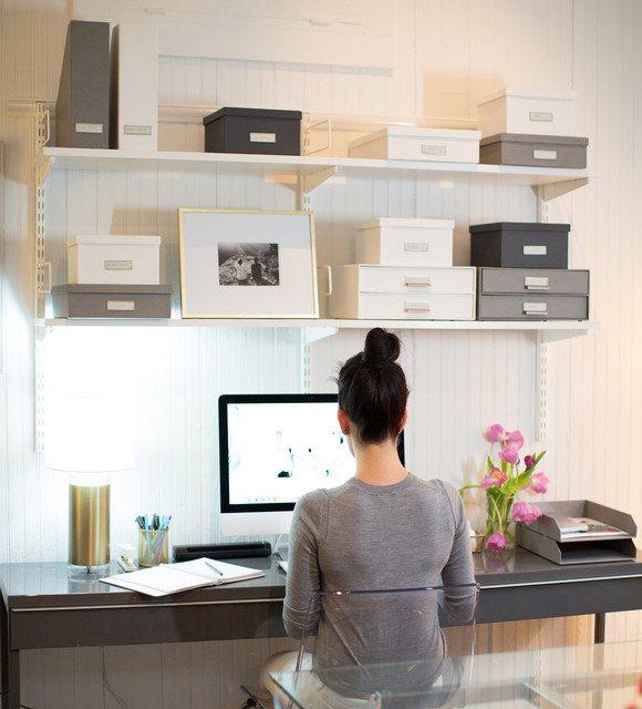 Home office contemporary home office charleston by the container store - Container store home office ...