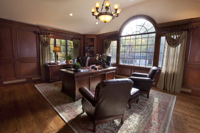 Home Office Traditional Home Office Library New York By