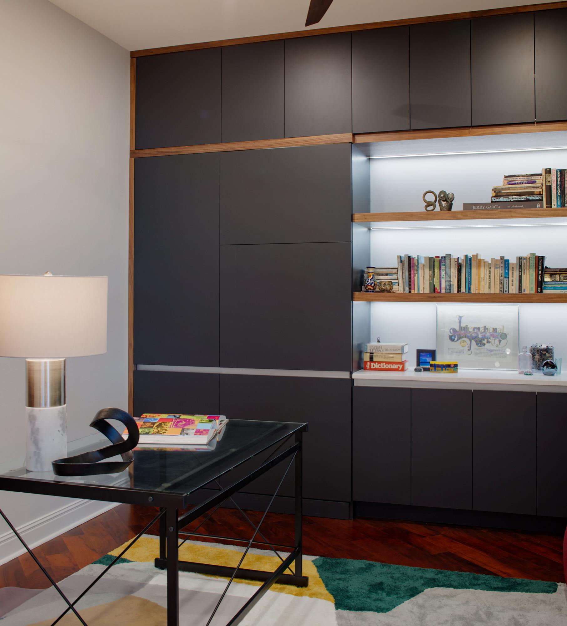 Home office with a hidden closet