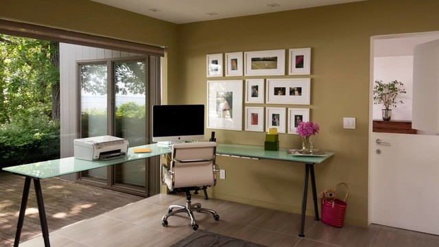 Arbeitszimmer einrichten feng shui  Home Office With Good Feng Shui