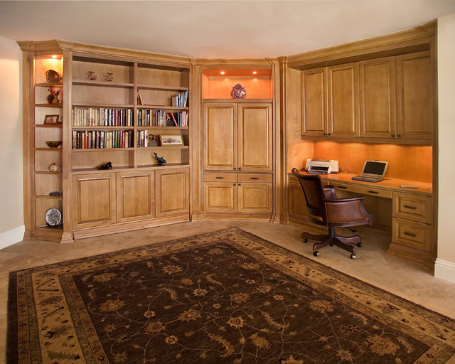 Home Office With Zoom Room Convertible Guest Bed Closed Traditional Home Office Other