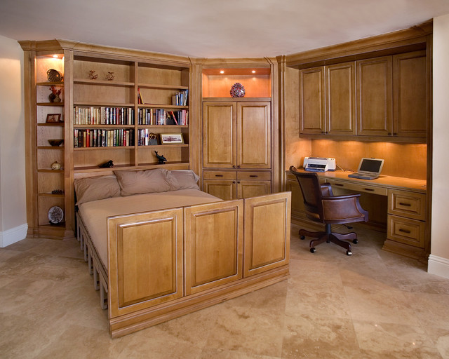 Home Office With Zoom bed Traditional