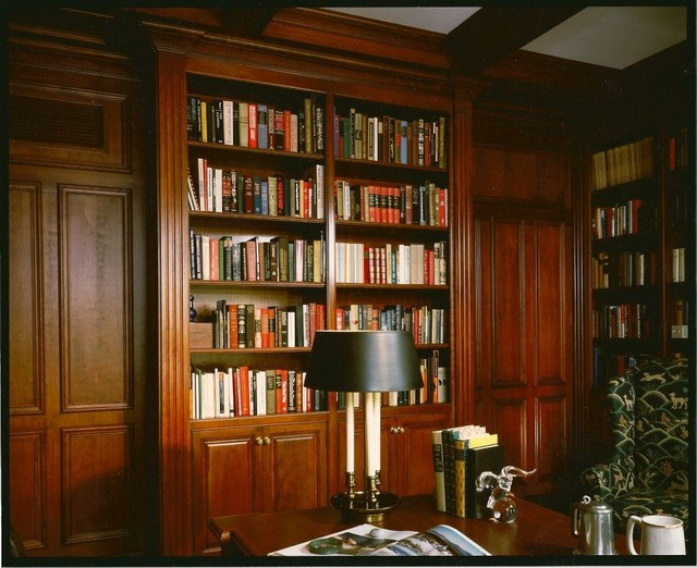Home study traditional home office new york by for Ideal home study room