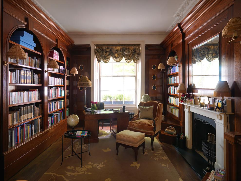 Elegant home office photo in London