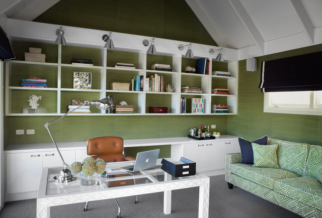 Houzz Tour American Traditional Warms Up A Melbourne Coastal Home Office