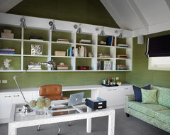 Houzz Tour: American Traditional Warms Up a Melbourne Coastal Home traditional home office