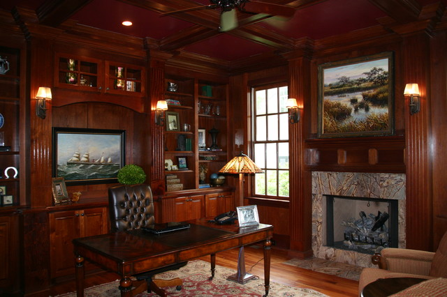 Howard Residence Study traditional home office