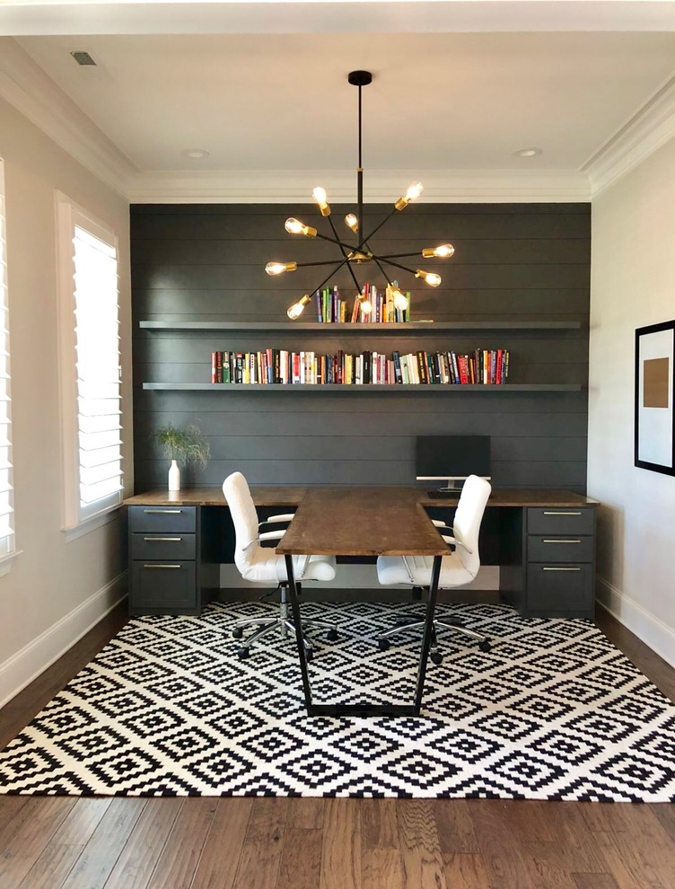 Trendy home office photo in Charlotte