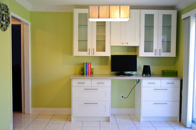 Ikea And Semi Custom Kitchens Contemporary Home Office Toronto By Ts Kitchen Projects