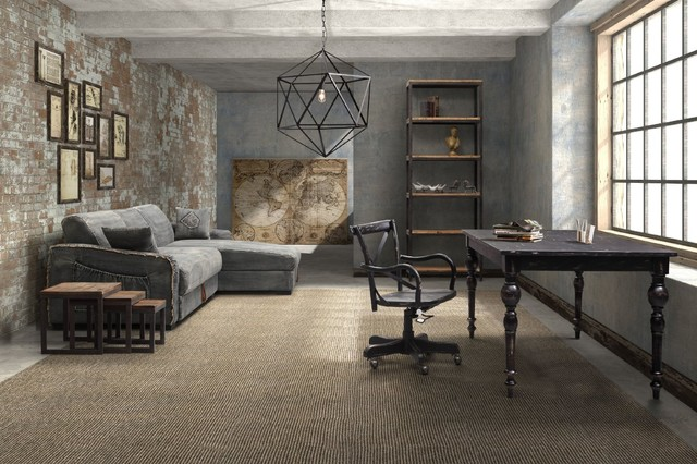 Industrial Loft Design Industrial Home Office Library New York By Zin Home
