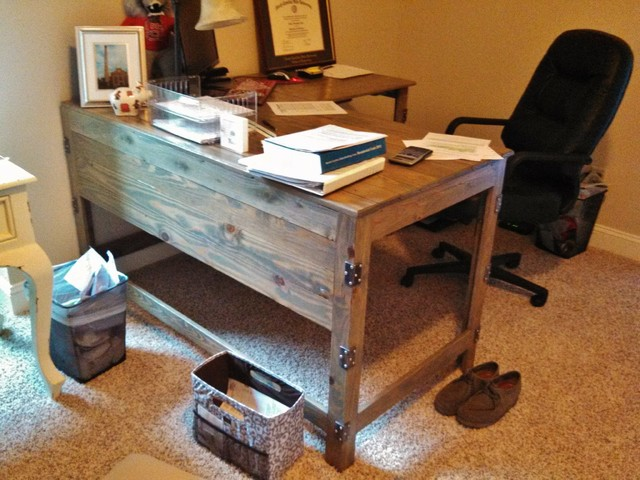 wood desks home office. Industrial-Rustic Fusion Reclaimed Wood Desk Industrial-home-office Desks Home Office
