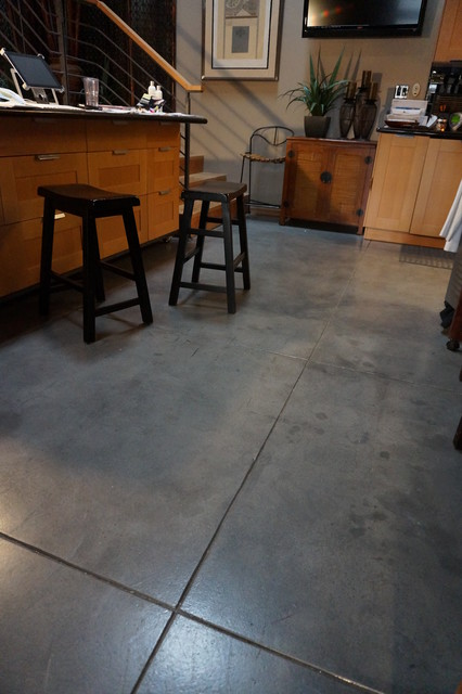 Industrial salon floors for Industrial flooring for homes