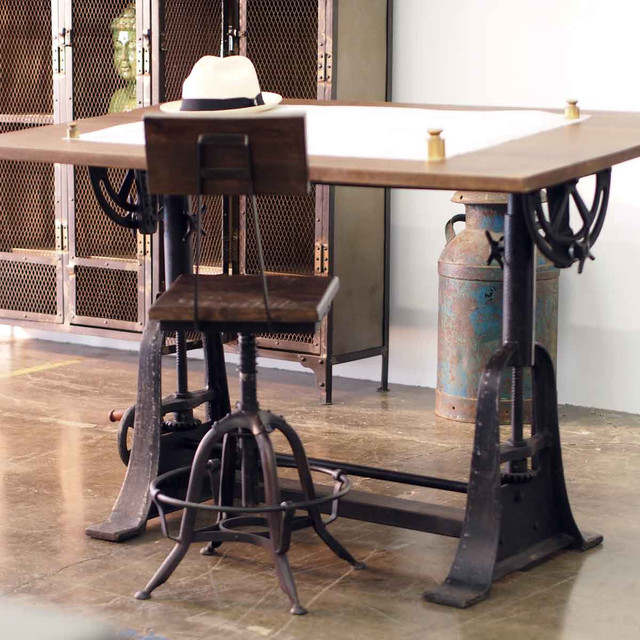Industrial Style Drafting Desks - Eclectic - Home Office ...
